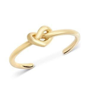 NWT Kate Spade Gold Loves Me Knot Cuff Bracelet